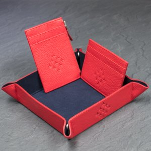 official red arrows gifts mens tray with cardholders on cook and sleep kitchen surface