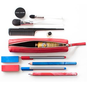 red arrows official merchardise leather zipped case with stationary and make-up either side asalli