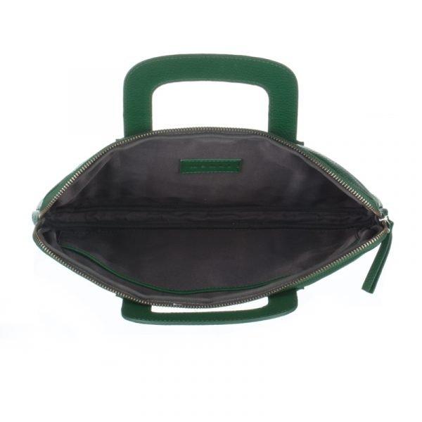 Interior of the green asali laptop bag