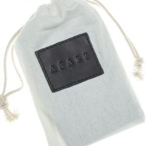 Dust bag with de-bossing of asali logo for asali cardholder