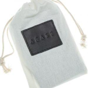 Dust bag with de-bossing of asali logo for asali cardholder