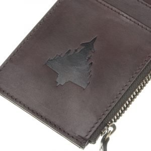 typhoon brown nappa leather cardholder