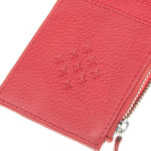 Zipped Cardholder Red Arrows Close Up Diamond 9