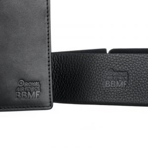 BBMF Wallet with Tray close up to show bbmf logo