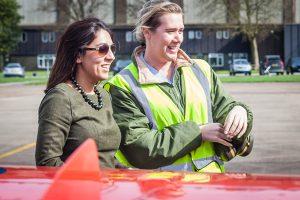 Mindy Arora with Alicia mason RAF Circus 1 at Scampton
