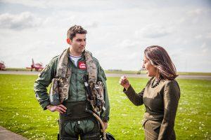 David Montenegro RAF Red 1 Mindy Arora at RAF Scampton