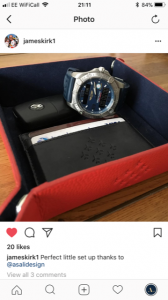 james kirk instagram review of asali products