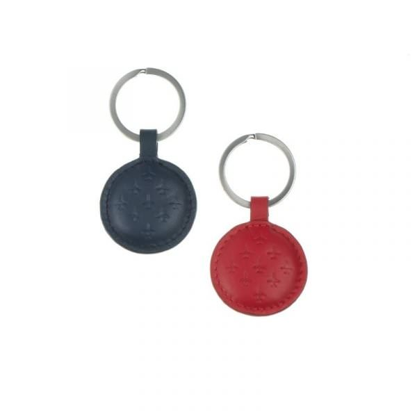 red arrows key ring duo red and blue