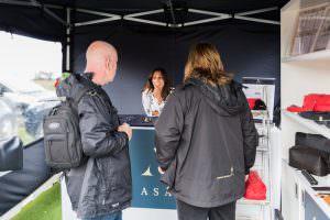 customers talking to mindy arora at asali stand