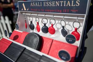 asali essentials hanging on hooks