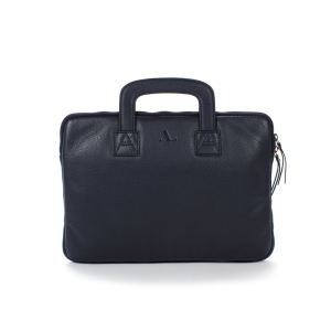 Navy laptop case with handles front