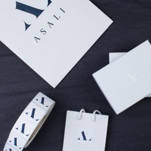 asali packaging boxes and stickers and bags