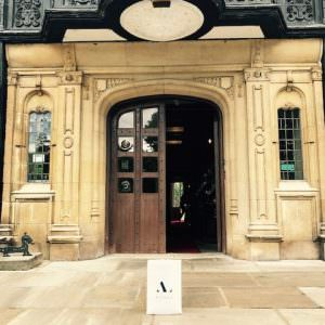 front door pf petwood hotel with asali bag