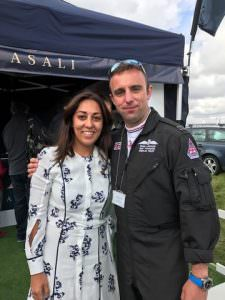 mindy arora and flt lt ryan lawton typhoon display