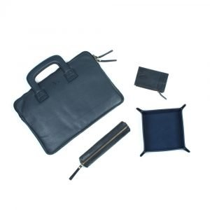 laptop case with handles navy leather asali range as recommended by kay flawless