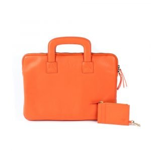 orange leather gift set