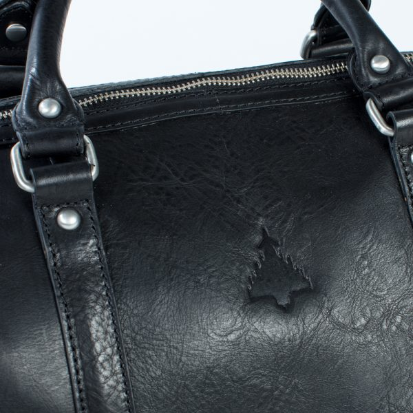 close up of typhoon on weekend bag