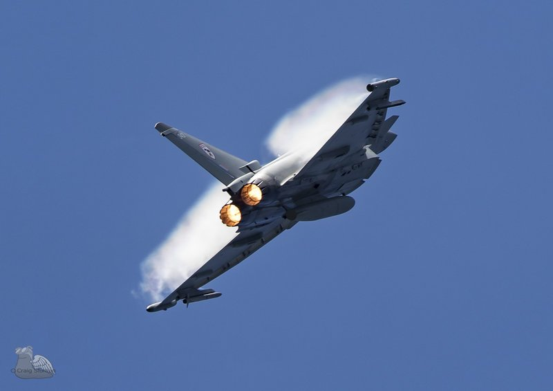 Eurofighter typhoon display practice taken by craig sluman