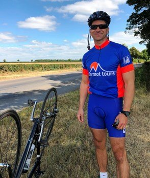 JIm Peterson training ride for charity cycle