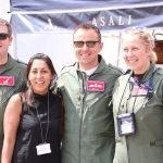 RAF100 flypast team at asali stand RIAT. Duncan MacNiven