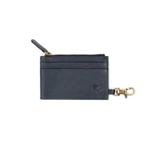 love asali navy cardholder with heart and hook