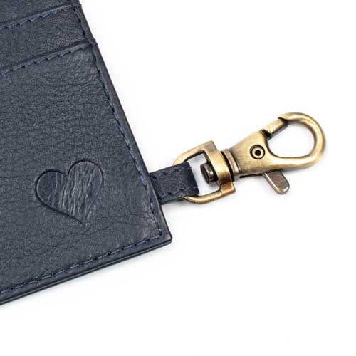 love asali cardholder navy blue