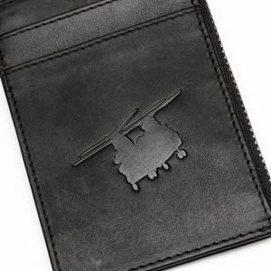 raf odiham chinook leather cardholder with zip