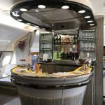 emirates a380 upper deck first class at bahrain airshow