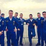 frecce tricolori italian display team at bahrain airhshow