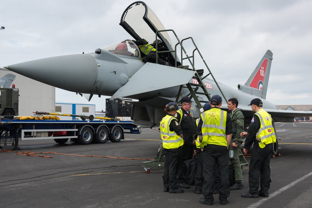 RAF Engineers 29 Squadron with Typhoon Display at Blackpool Airshow captured by Michelle Middleton