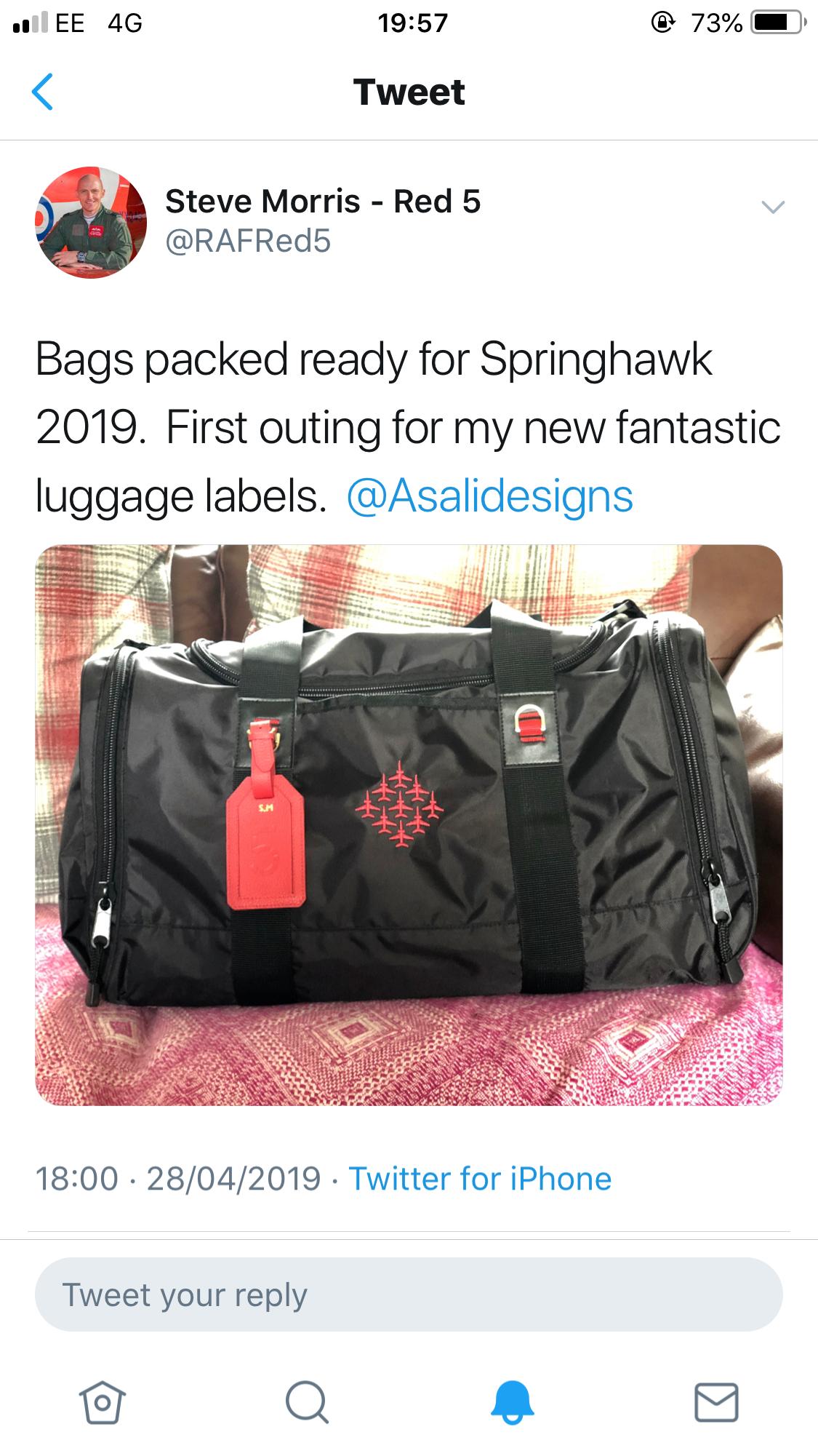 raf red 5 steven morris spring hawk luggage