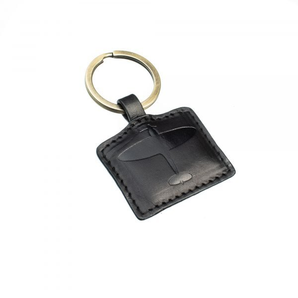 spitfire leather keyring gift