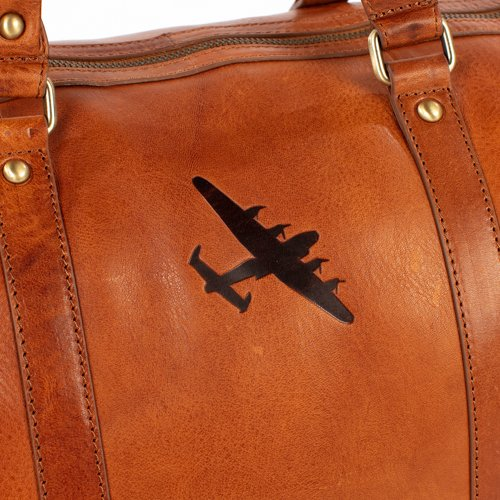 lancaster on leather weekend bag bbmf collection asali