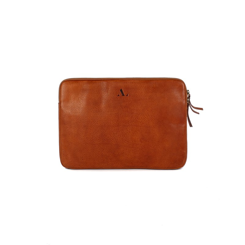 asali tan leather laptop sleeve 13-14 inch