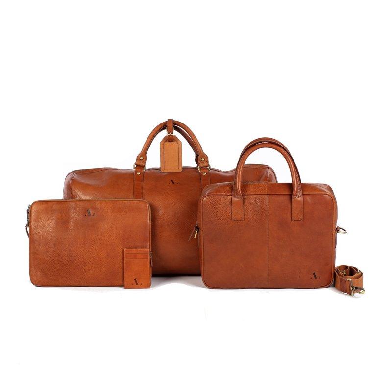 asali tan collection bags genuine leather tan