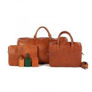 asali tan leather bag collection