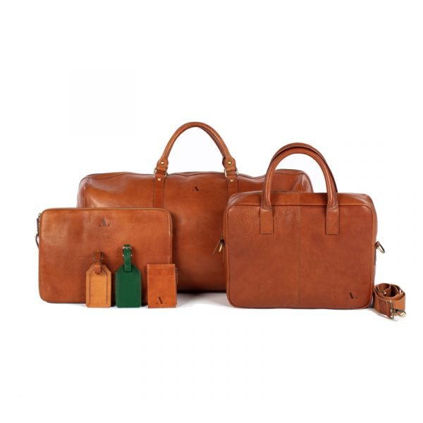 asali tan leather bag collection