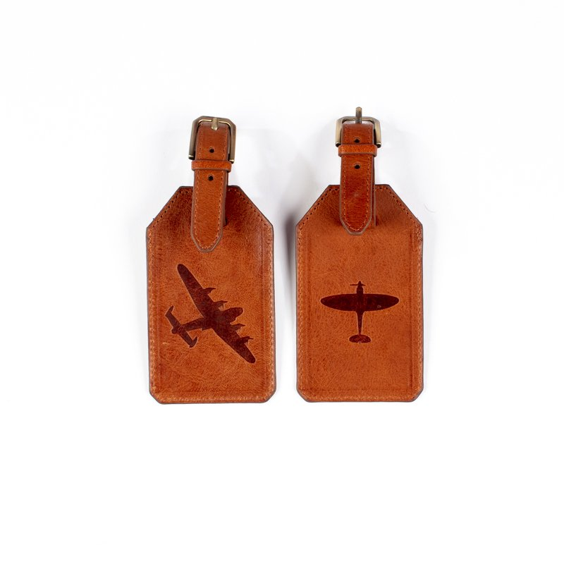 spitfire and lancaster luggage tags leater asali