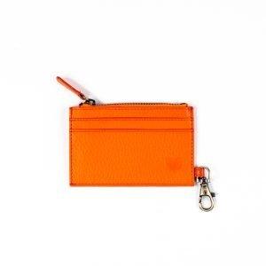 love asali orange cardholder with hook