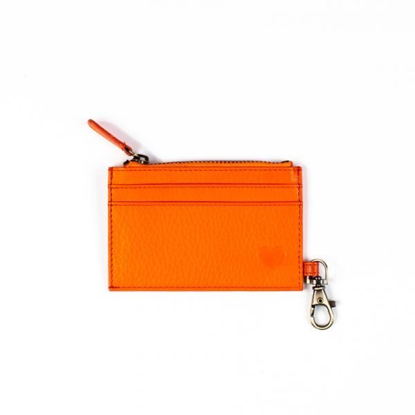 love asali orange cardholder with hook