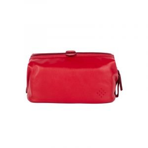 nappa leather red arrows licensed wash bag