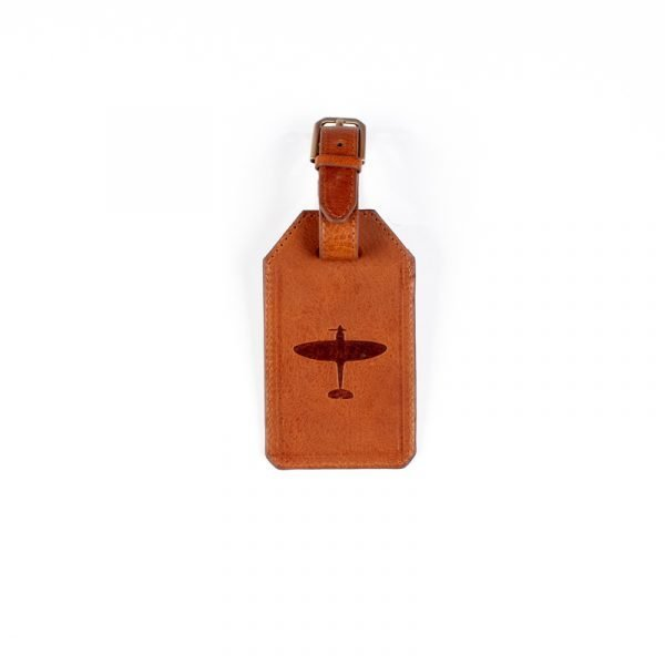 personalised spitfire leather luggage tag gift asali designs