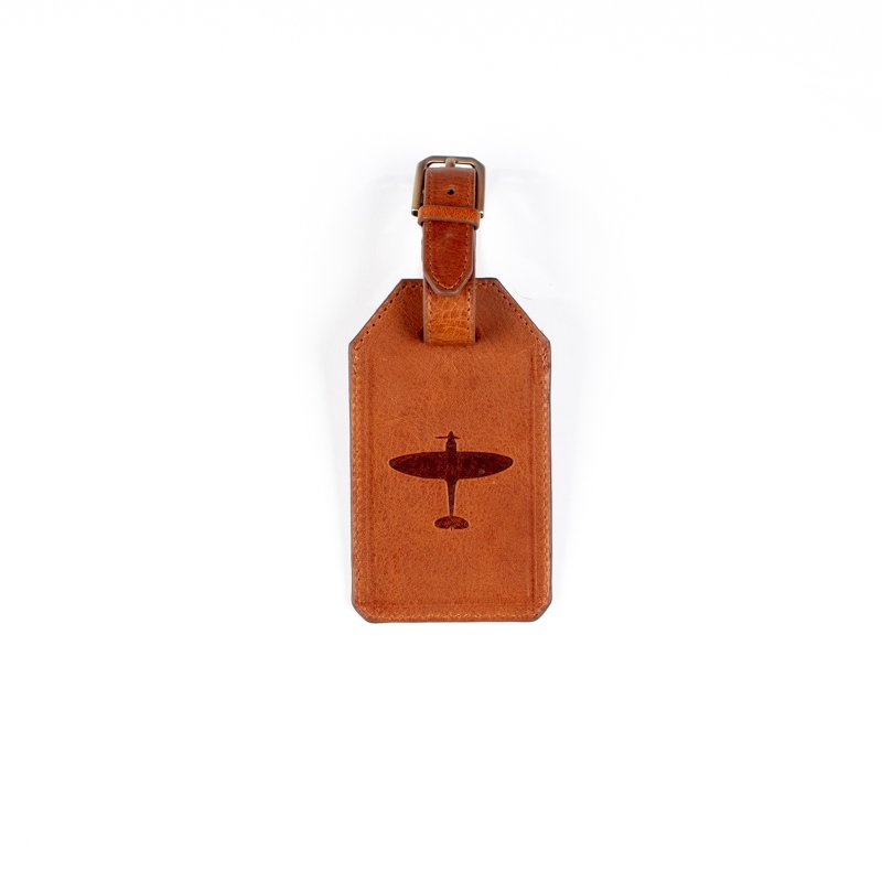 spitfire leather luggage tag gift asali designs