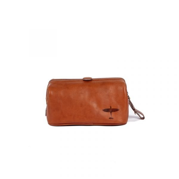 spitfire leather wash bag asali
