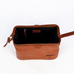 inside of leather wash bag lacnaster spitfire bbmf asali designs