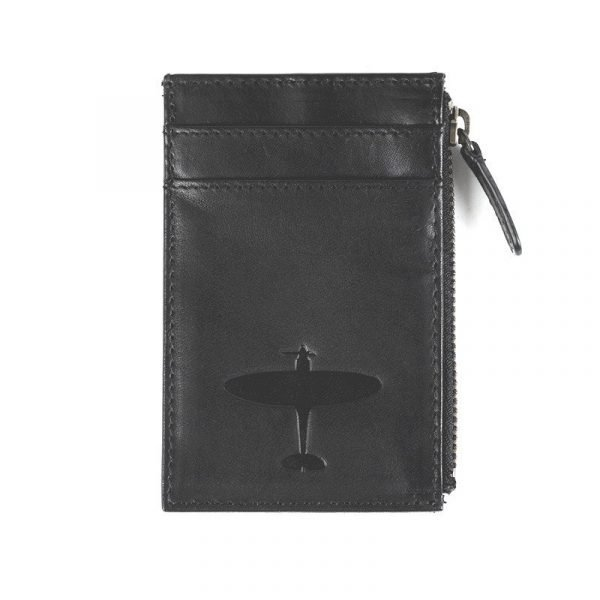 spitfire gift leather cardholder with zip