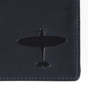 spitfire deboss on leather wallet asali