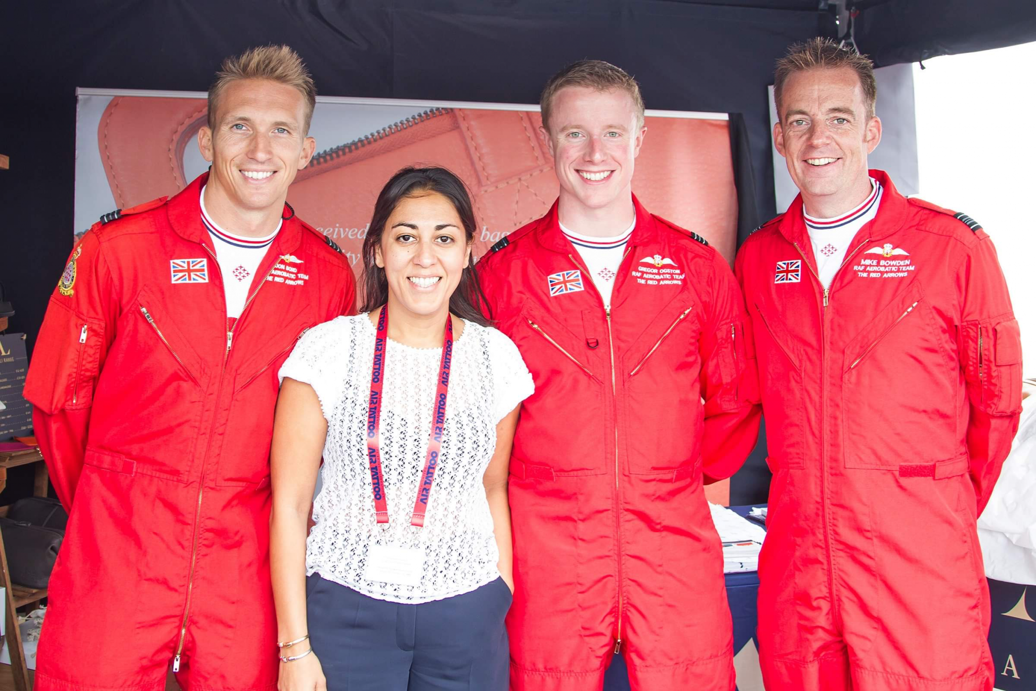 raf red arrows meet at the asali designs stand riat