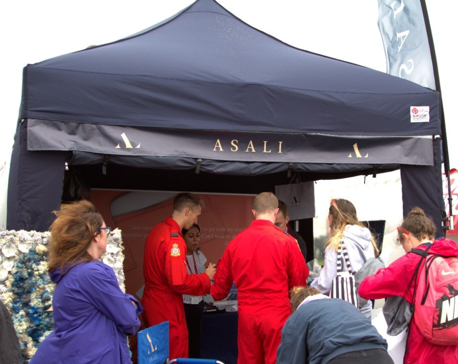 red arrows signing at asali designs riat 2019