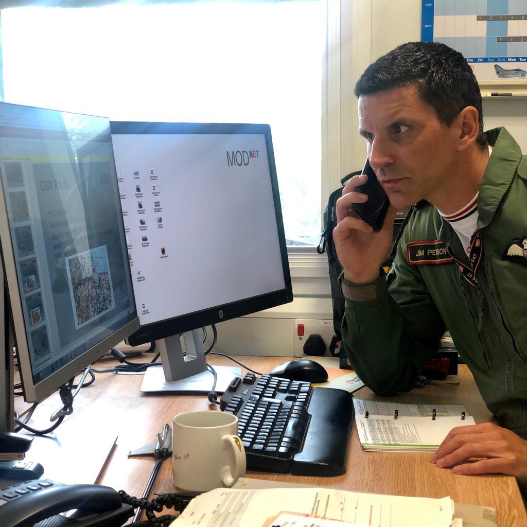 flt lt jim peterson typhoon display pilot briefing with matt jones